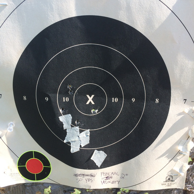 Does sandbag resting a pistol affect point of impact? IMG-6771