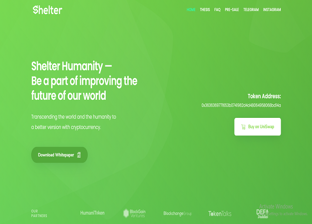 Shelter Crypto | Shelter Humanity | Charity Token Homeless | Charity Coin.png