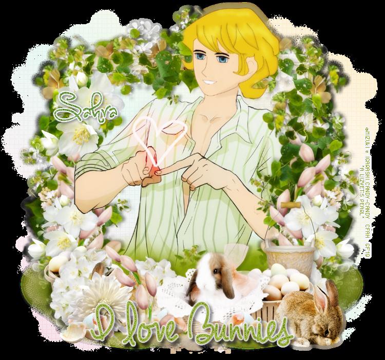 """ENTREGANDO REGALITOS.  GRACIAS...[♥️ Celtic Faires Corazón Andrew ♥️] ANIMALES FANTÁSTICOS Aporte #7 -Firma """" I love Bunnies """"-Destellos para ALBERT 8"""