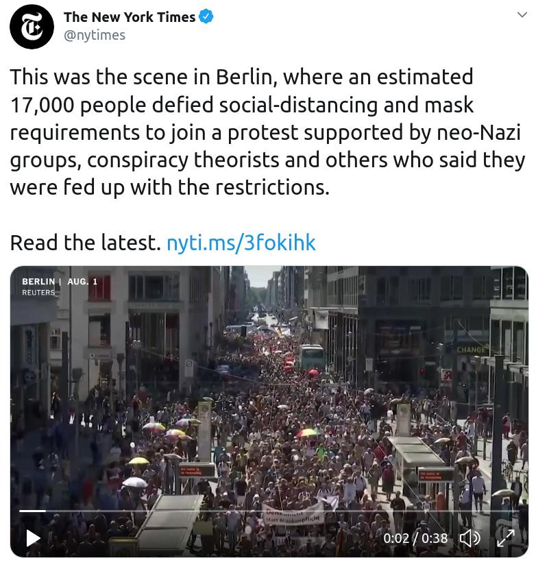 New York Times Slanders Berlin protesters