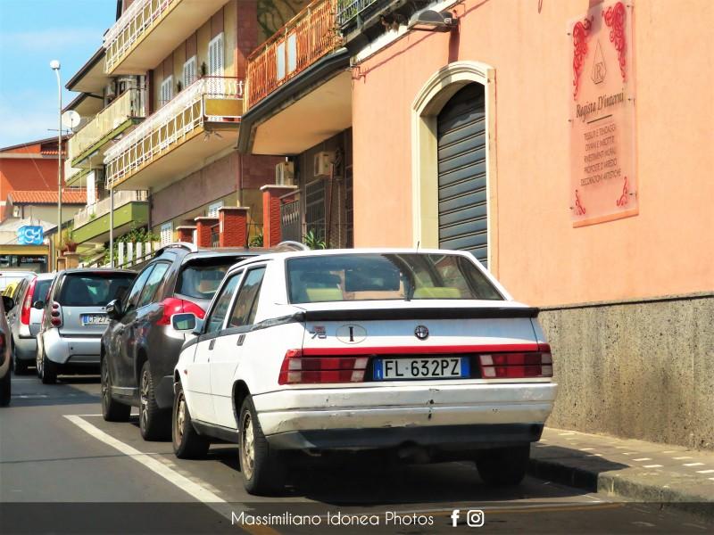avvistamenti auto storiche - Pagina 31 Alfa-Romeo-75-1-6-110cv-89-FL632-PZ-275-272-5-2-2018