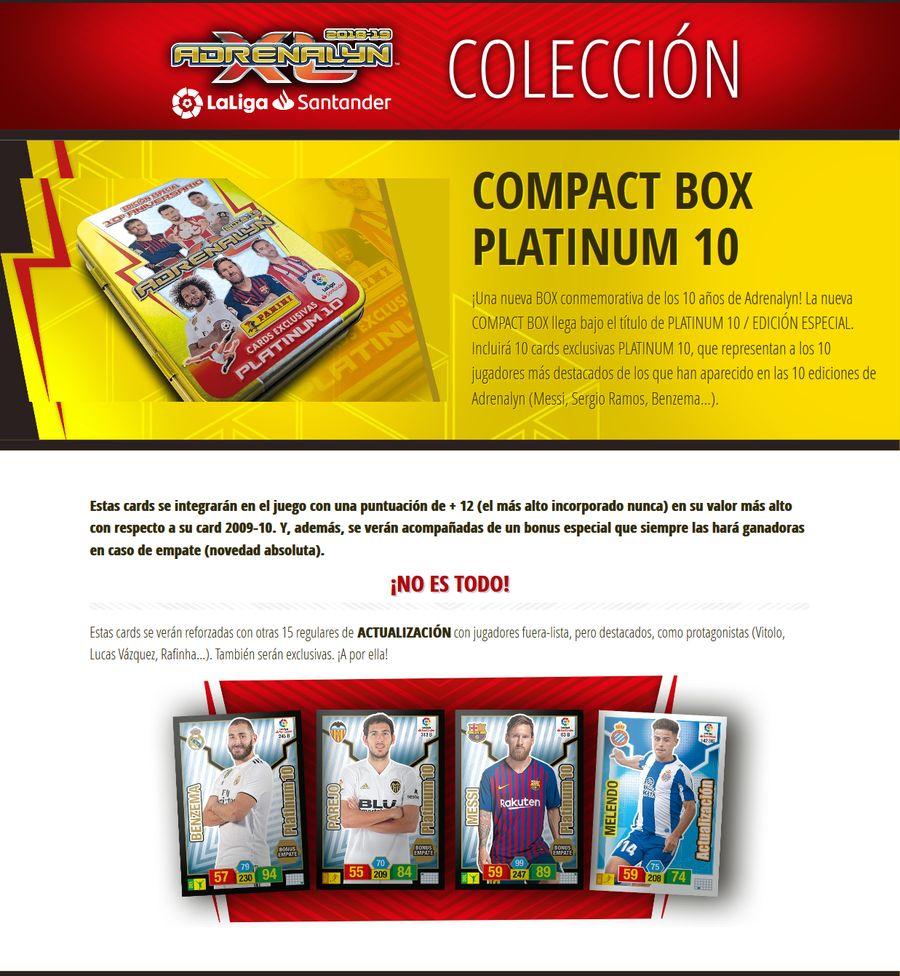 Compact Box Platinum 10 15-COMPACT-BOX-PLATINUM-10-COLECCI-N-Adrenalyn-Liga