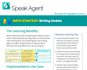 Speak Agent Math Strategy Brief - Writing Models