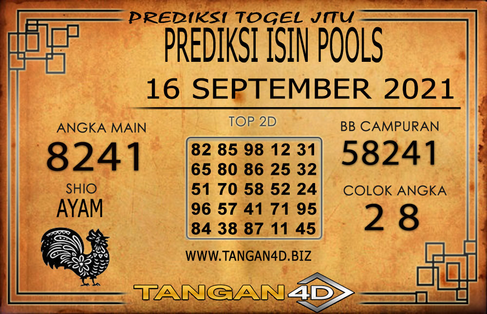 PREDIKSI TOGEL ISIN TANGAN4D 15 SEPTEMBER 2021