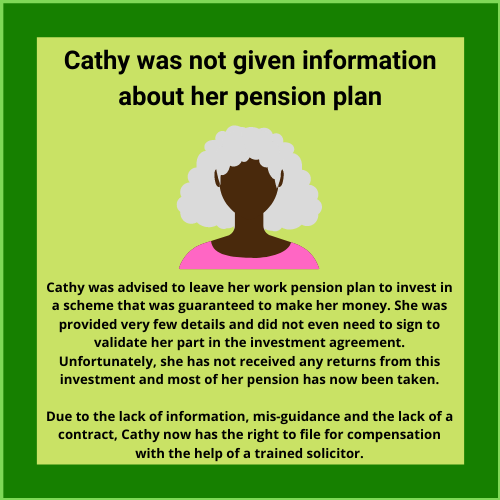 case study about being mis-sold a pension