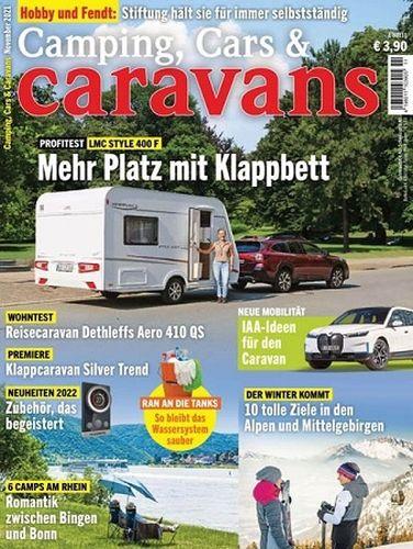 Cover: Camping, Cars und Caravans Magazin November No 11 2021