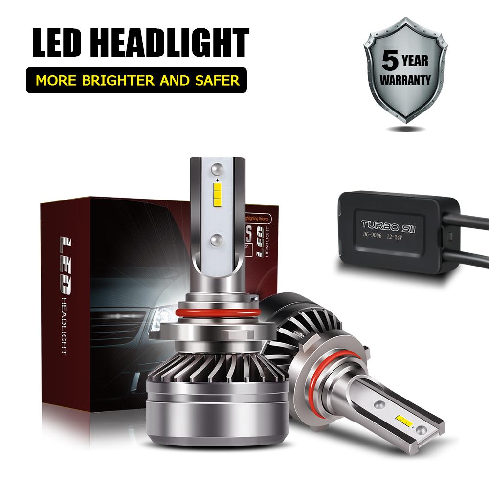 Fit 2005-2012 ACURA RL 12000LM 6000K 9005 CSP LED Headlight Bulb High Beam Kit