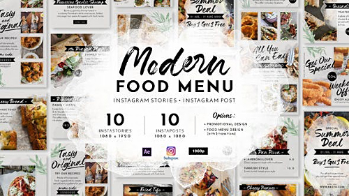 Modern Food Menu Instagram Stories 28331308 - Project for After Effects (Videohive)