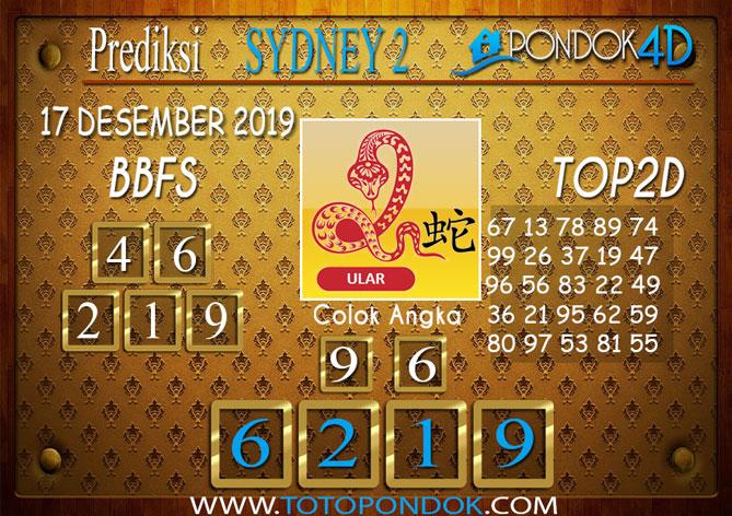 Prediksi Togel SYDNEY 2 PONDOK4D 17 DESEMBER 2019