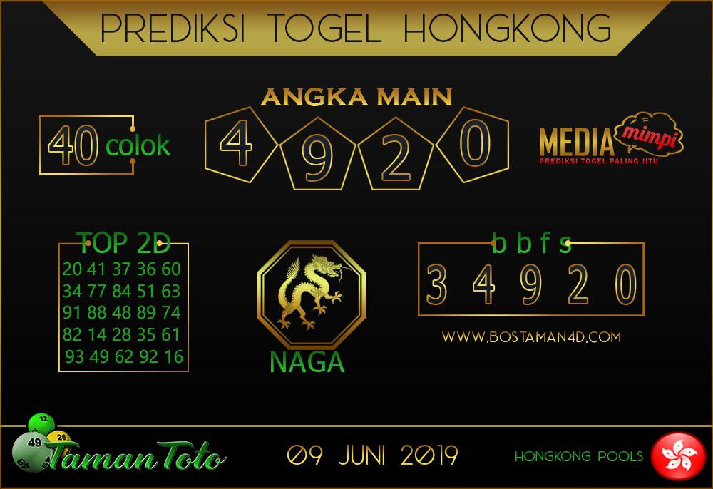 Prediksi Togel HONGKONG TAMAN TOTO 09 JUNI 2019