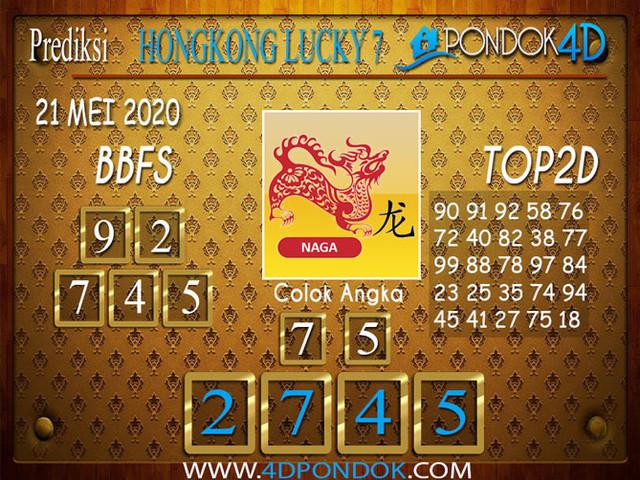 Prediksi Togel HONGKONG LUCKY 7 PONDOK4D 21 MEI 2020