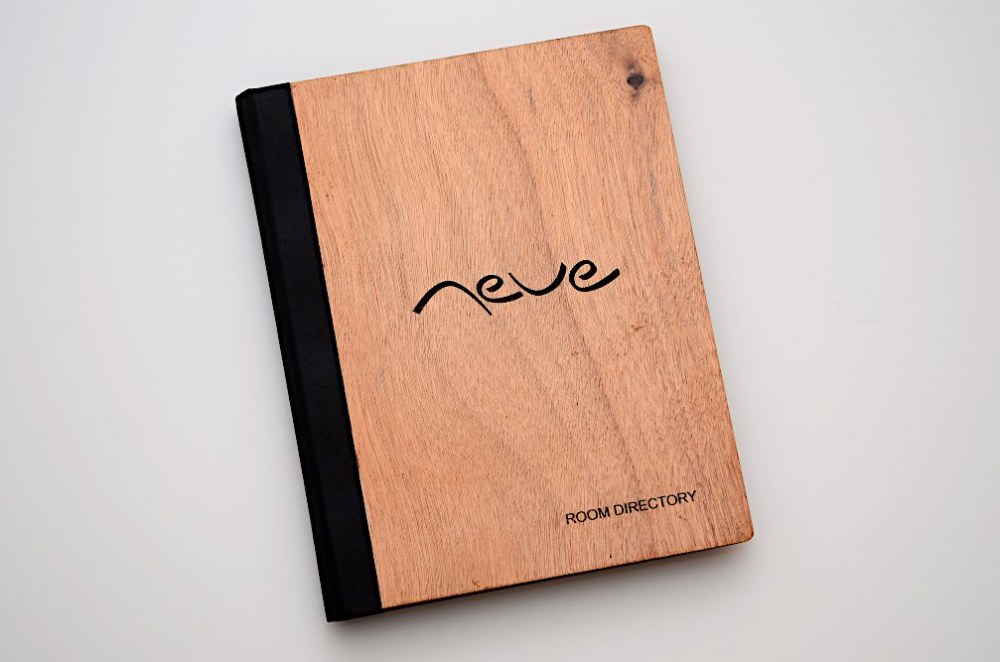 Custom Made Wooden Menu Cover With Laser Engraving