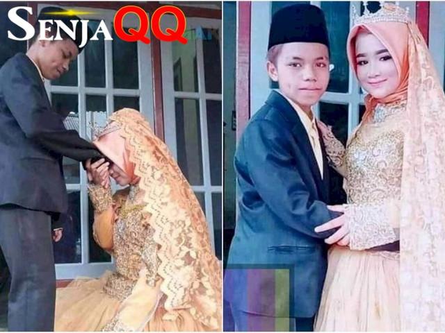 Pernikahan dini sepasang remaja di Lombok Tenggah , Jual sabun