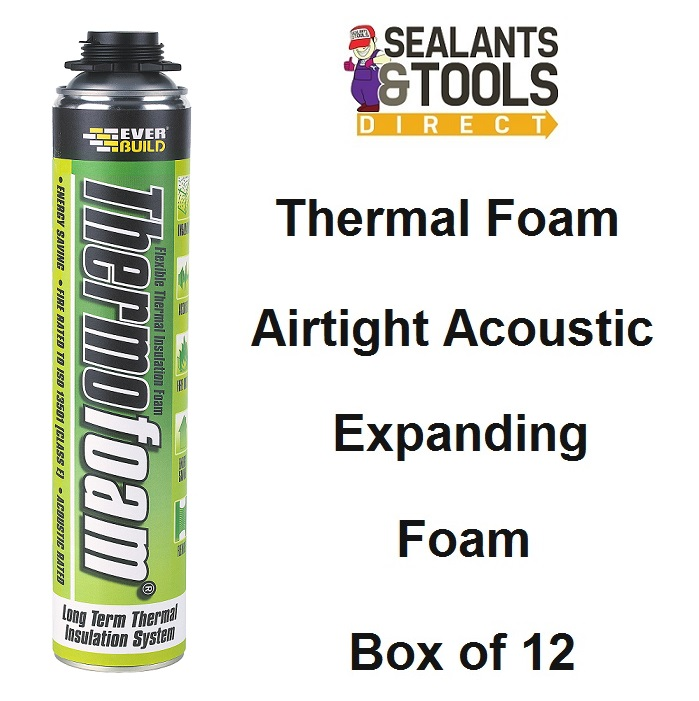 Everbuild Thermofoam Airtight Acoustic Expanding Foam Box of 12
