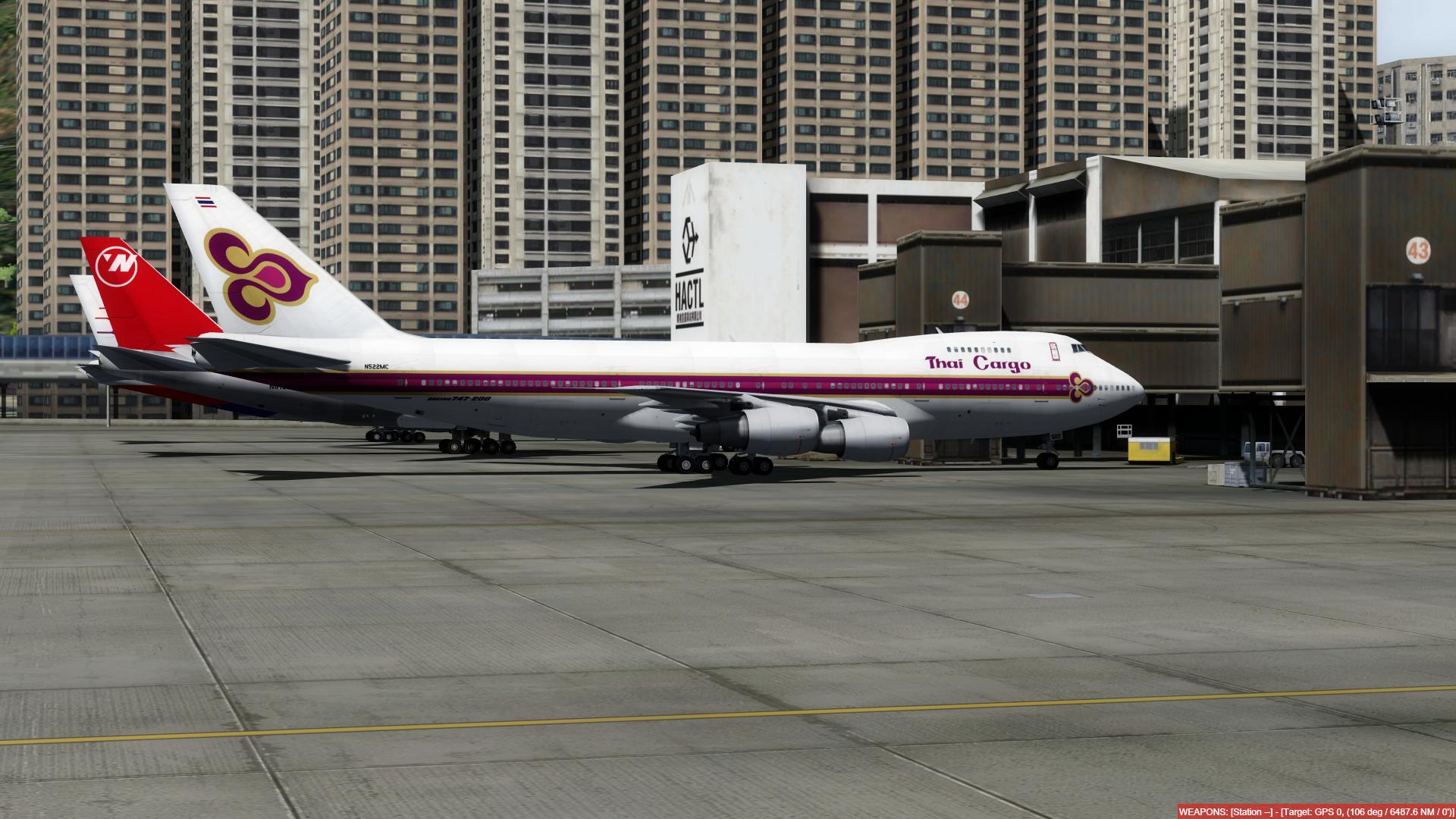 O dia a dia em Hong Kong Kai Tak - O aeroporto mais emocionante do mundo! P3D V4.4 - Só trafego AI. Captura-de-Tela-237