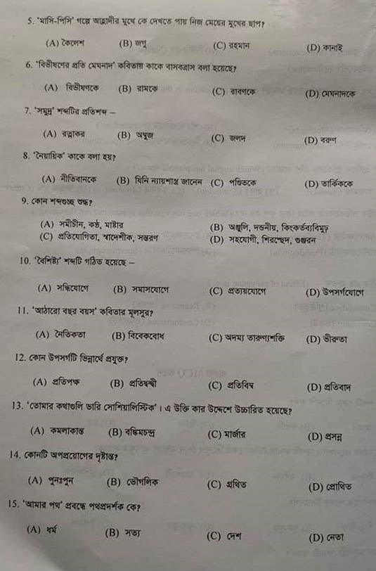 Dhaka University Admission Question Pattern & Subject List
