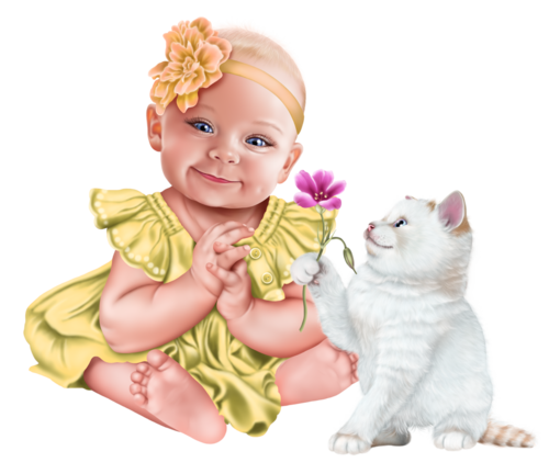 baby-with-a-kitten-png19.png
