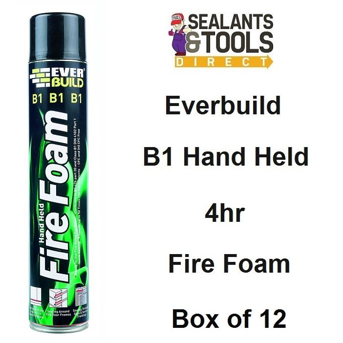 Everbuild B1 Expanding 4hr Fire Foam Hand Held Box of 12 EVFIRE
