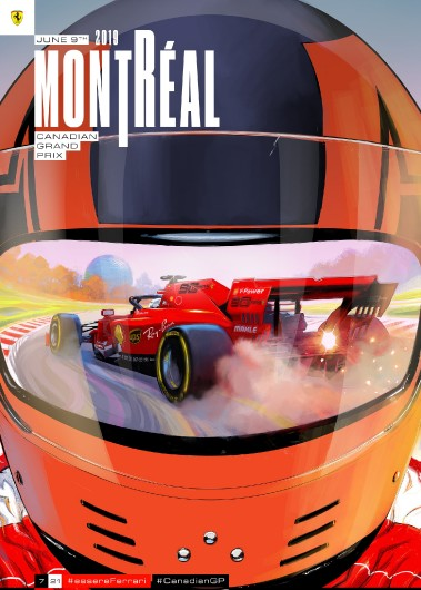 7 CANADA 2019 FERRARI COVER ART POSTER dvd