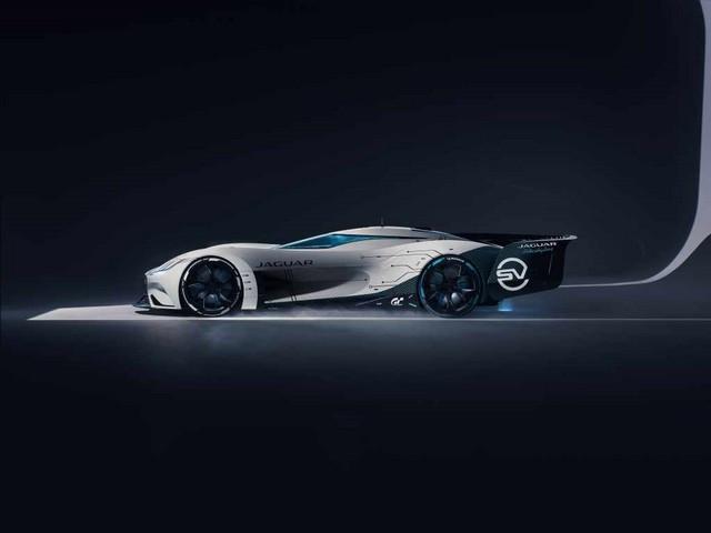 Jaguar Lève Le Voile Sur La Vision Gran Turismo SV : La Voiture De Course 100% Électrique Ultime Pour Les Passionnés De Course Automobile Jag-GTSV-Side-161220