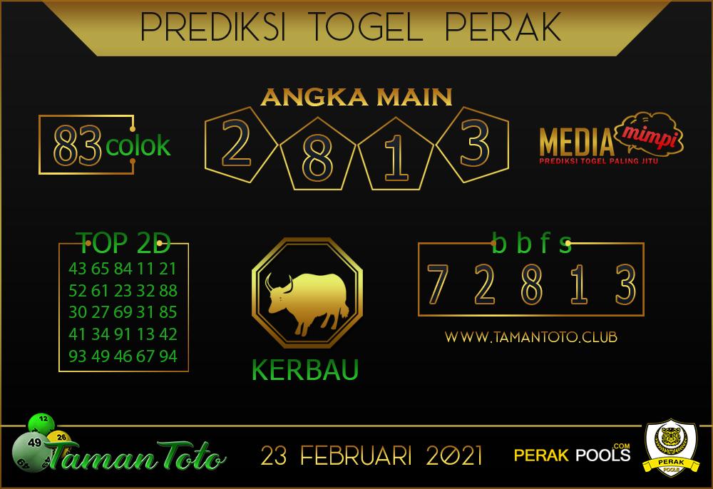 Prediksi Togel PERAK TAMAN TOTO 23 FEBRUARI 2021