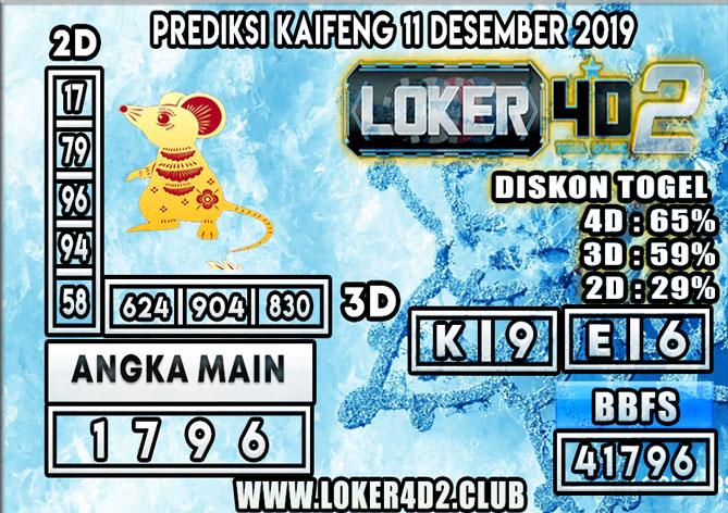 PREDIKSI TOGEL KAIFENG POOLS LOKER4D2 11 DESEMBER 2019