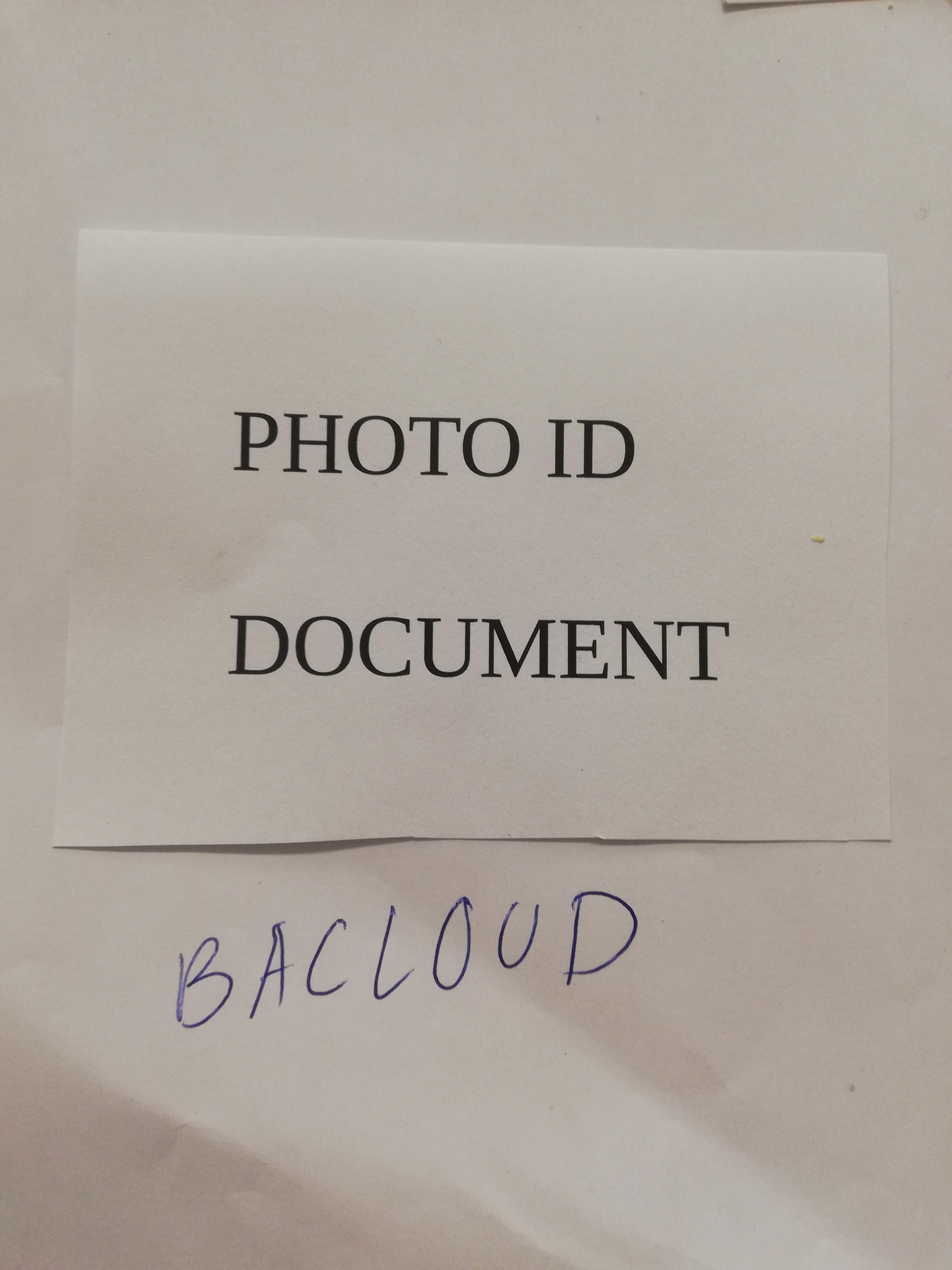 Bacloud paper photo ID