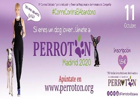 Nota de prensa de Perrotón Madrid 2020 que se celebrará el próximo 11 de Octubre