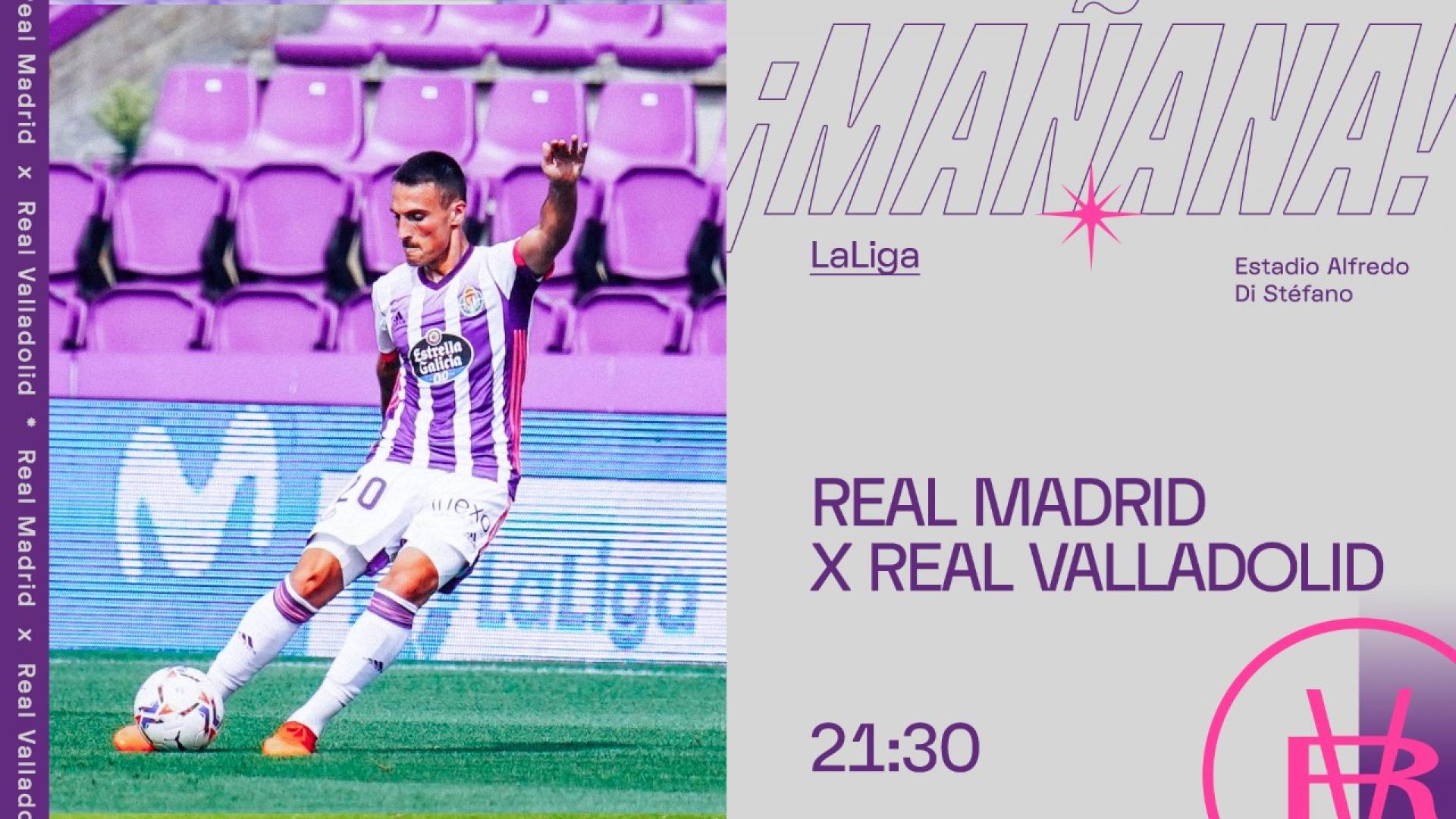 Real Madrid C.F. - Real Valladolid C.F. Miércoles 30 de Septiembre. 21:30 Partido-RMA