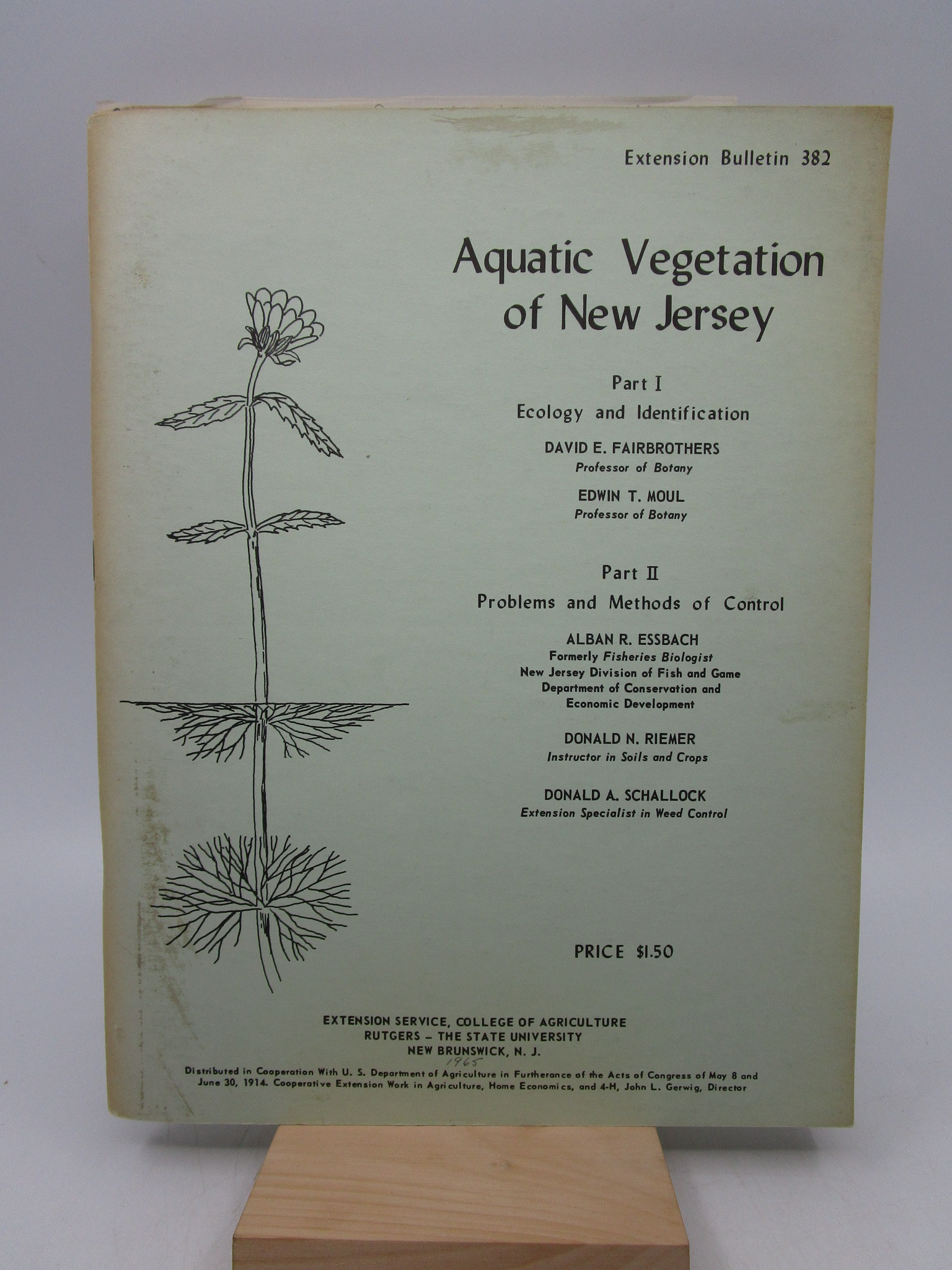 Image for Aquatic Vegetation of New Jersey: Extension Bulletin 382 (First Edition)