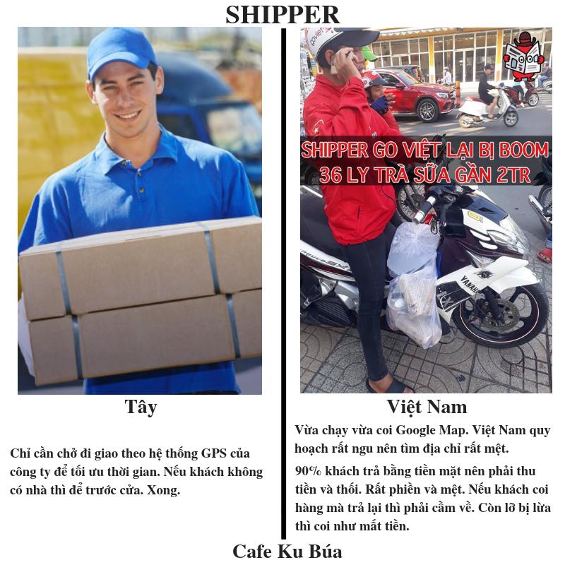 NỖI KHỔ CỦA SHIPPER VIỆT
