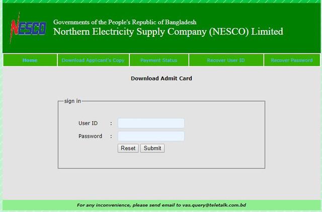 nesco-job-circular-admit-card