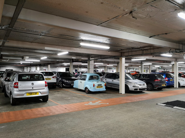 Funny, I don't remember the spaces in the Sainsbury's car park being this big...  Yep, TPA is out and about.  This was the first time I'd actually ventured beyond our housing estate, so felt like quite an accomplishment.  Yes, the other shoppers did look absolutely baffled.