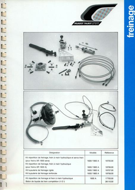 Catalogue PTS pièces compétition - 205 GTI 1600-1900 gr. N/A PTS-Freinage-3