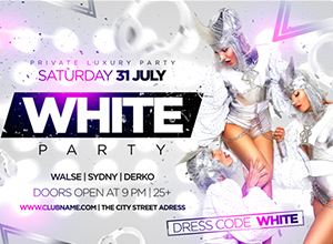 White Party Flyer by MaksN | GraphicRiver
