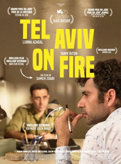 Tel Awiw w ogniu / Tel Aviv on Fire (2018) PL.BDRip.XviD-KiT / Lektor PL