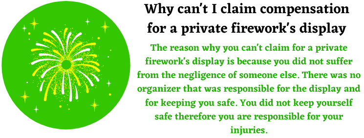 private fireworks safety display help