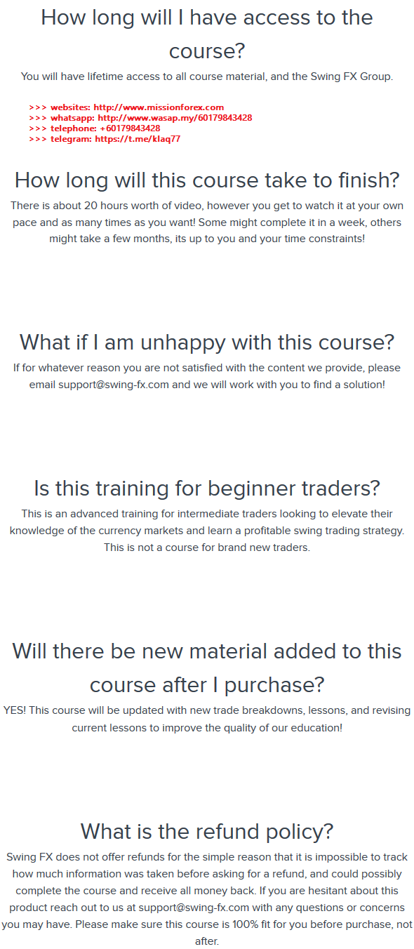 Swing FX - The FX Swing Trading Blueprint