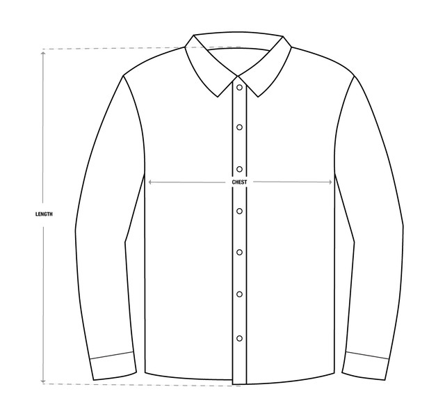 Button-Up-Size-Chart-Vector