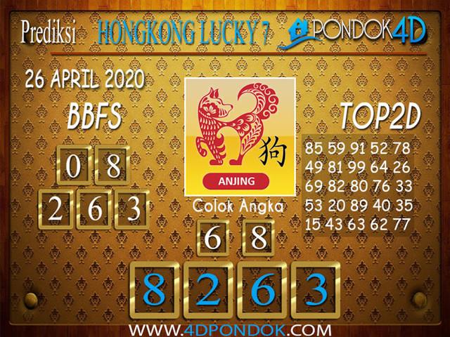 Prediksi Togel HONGKONG LUCKY 7 PONDOK4D 26 APRIL 2020