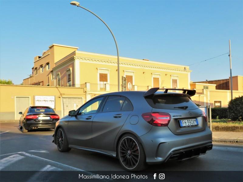 Avvistamenti auto rare non ancora d'epoca - Pagina 25 Mercedes-W176-A45-AMG-4-Matic-2-0-381cv-17-FH390-XM