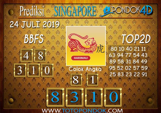 Prediksi Togel SINGAPORE PONDOK4D 24 JULI 2019