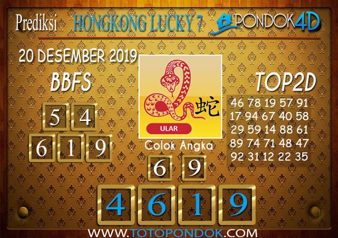 Prediksi Togel HONGKONG LUCKY 7 PONDOK4D 20 DESEMBER 2019