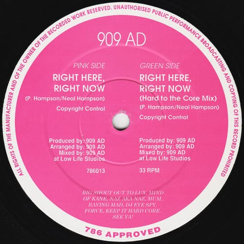 Download 909 AD - Right Here, Right Now mp3