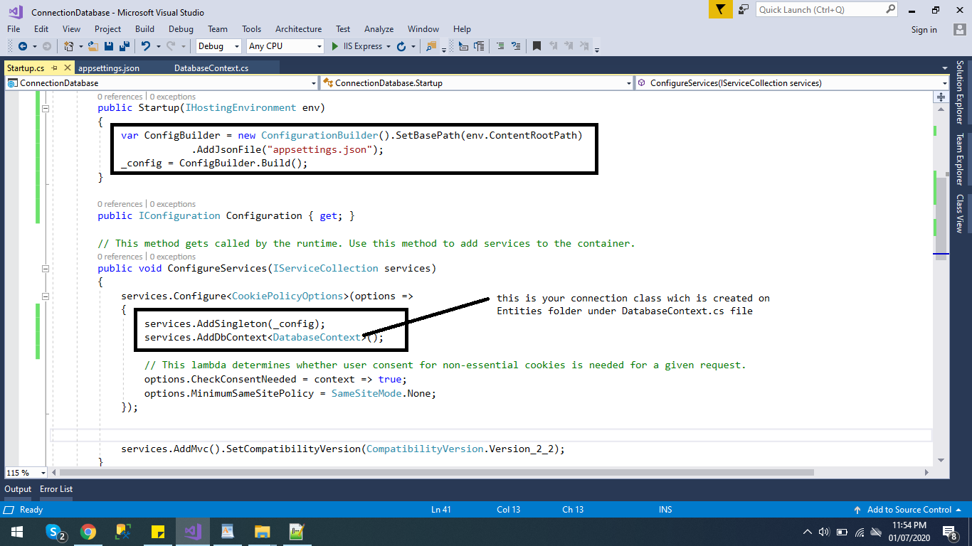 CRUD in asp.net core with step by step