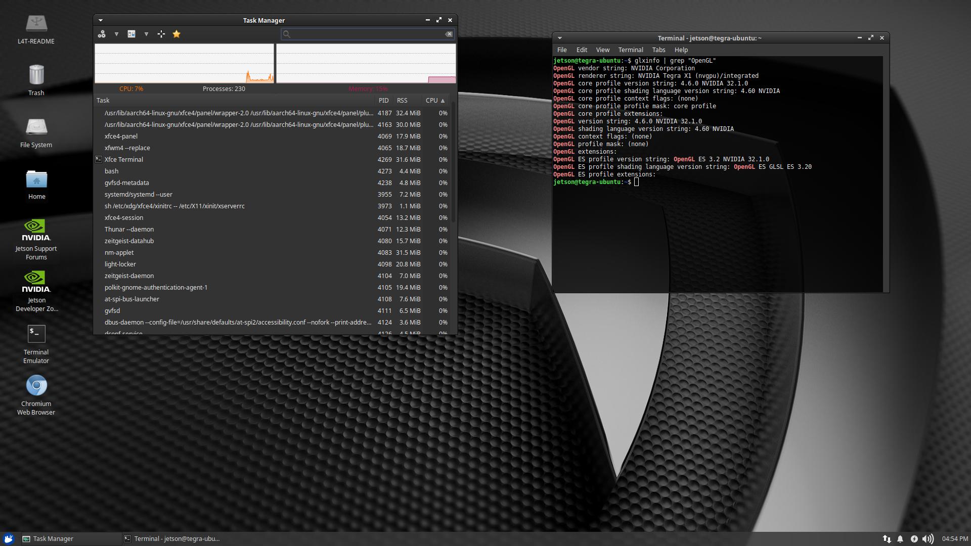 Xubuntu-Core / XFCE4 18 04 2 - Custom Image for the Jetson