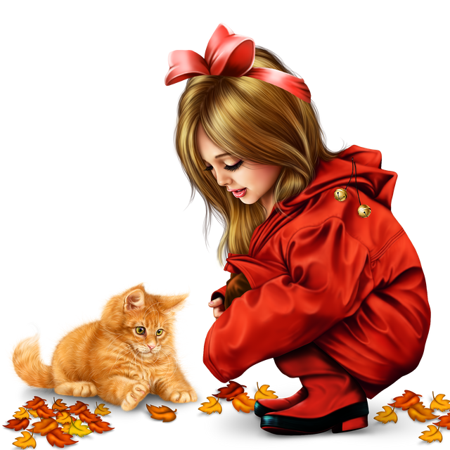 little girl in raincoat with a kitty png 31fff4056fc13bd856.png
