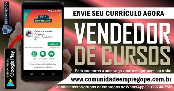 VENDEDOR DE CURSOS PARA INSTITUIÇÃO DE ENSINO DE LÍNGUA ESTRANGEIRA