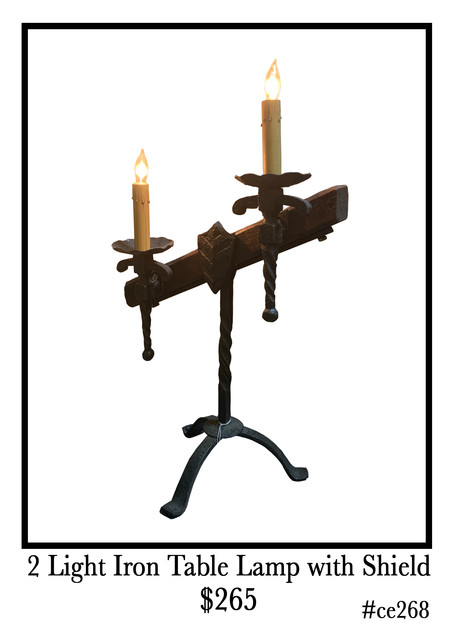 2-Light-Iron-Table-Lamp-with-Shield