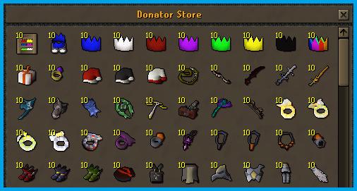 Donator Store